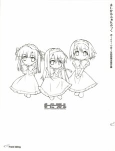 Rating: Safe Score: 7 Tags: boy_meets_girl chibi dress kasugano_haruna maid monochrome shingyouji_mao shintarou sketch tsubasa_miu User: admin2