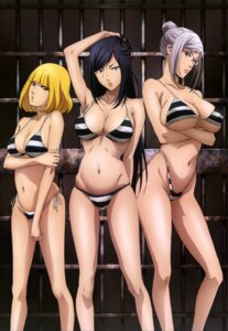 Rating: Questionable Score: 144 Tags: bikini breast_hold cleavage kurihara_mari megane midorikawa_hana prison_school shiraki_meiko swimsuits underboob User: drop