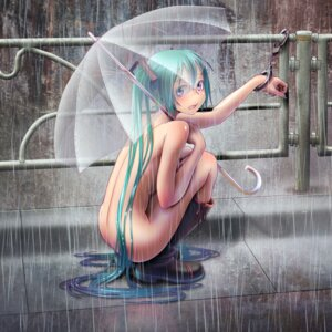 Rating: Questionable Score: 141 Tags: bondage hatsune_miku naked umbrella vocaloid wokada User: VorpalNeko