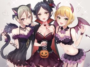 Rating: Safe Score: 41 Tags: animal_ears cleavage dress halloween hayami_kanade horns ilo miyamoto_frederica nekomimi pointy_ears shiomi_shuuko tail the_idolm@ster the_idolm@ster_cinderella_girls wings User: Mr_GT