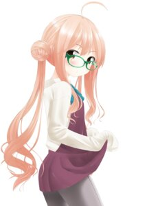 Rating: Safe Score: 34 Tags: kantai_collection makigumo_(kancolle) megane nekobaka pantyhose skirt_lift User: Zenex