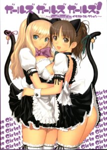 Rating: Questionable Score: 63 Tags: animal_ears cleavage maid nekomimi nopan symmetrical_docking tail tony_taka User: Wraith