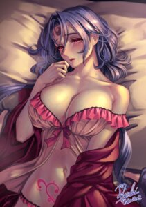 Rating: Questionable Score: 63 Tags: cleavage lingerie open_shirt ryuki signed tattoo User: Mr_GT