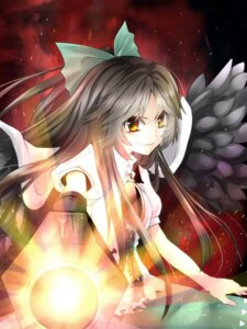 Rating: Safe Score: 2 Tags: gun reiuji_utsuho touhou wings yamineko User: Radioactive