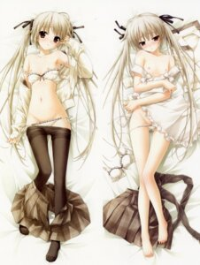 Rating: Questionable Score: 183 Tags: bra breasts dakimakura hashimoto_takashi kasugano_sora loli naked_apron nipples open_shirt pantsu pantyhose panty_pull sphere yosuga_no_sora User: Share
