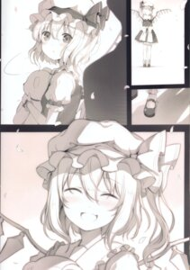 Rating: Questionable Score: 8 Tags: 6u flandre_scarlet monochrome touhou wings User: Radioactive