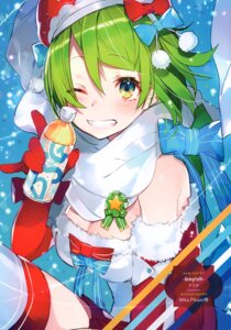 Rating: Questionable Score: 24 Tags: christmas cleavage mika_pikazo thighhighs User: 100497