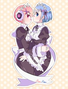 Rating: Safe Score: 6 Tags: maid ram_(re_zero) re_zero_kara_hajimeru_isekai_seikatsu rem_(re_zero) tagme User: Banbinh