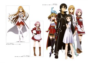 Rating: Safe Score: 30 Tags: adachi_shingo armor asuna_(sword_art_online) dress garter kirito lisbeth nakamura_naoto pina silica suzuki_gou sword sword_art_online thighhighs weapon yui_(sword_art_online) User: drop