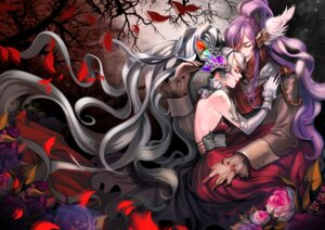 Rating: Safe Score: 24 Tags: dress hatsune_miku kamui_gakupo lsr no_bra tattoo vocaloid User: Mr_GT