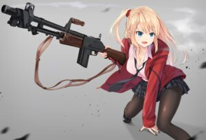 Rating: Safe Score: 44 Tags: cleavage gun pantyhose seifuku User: hamasen205