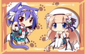 Rating: Safe Score: 23 Tags: animal_ears chibi fana_arsim kawasumi_yurika magicalic_sky_high nekomimi retoma_kuro seifuku tail thighhighs wallpaper whirlpool User: 椎名深夏