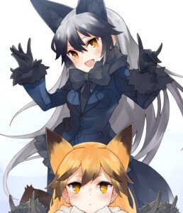 Rating: Safe Score: 34 Tags: animal_ears ezo_red_fox kemono_friends nuqura silver_fox User: Mr_GT