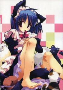 Rating: Safe Score: 34 Tags: animal_ears maid minazuki_haruka neko nekomimi User: Lore