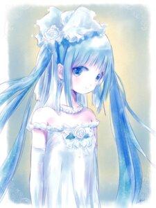 Rating: Safe Score: 25 Tags: dress hatsune_miku kowiru vocaloid wedding_dress User: charunetra
