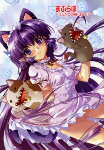 Rating: Safe Score: 17 Tags: animal_ears dress kamishiro_rin komatsu_e-ji lolita_fashion maburaho nekomimi User: admin2