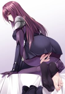 Rating: Questionable Score: 215 Tags: armor ass bodysuit fate/grand_order feet naturalton pantsu scathach_(fate/grand_order) torn_clothes User: Mr_GT