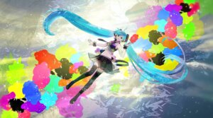 Rating: Safe Score: 30 Tags: chris hatsune_miku tell_your_world_(vocaloid) thighhighs vocaloid User: animeprincess