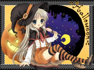 Rating: Safe Score: 26 Tags: halloween hanabana_tsubomi little_busters! noumi_kudryavka seifuku thighhighs wallpaper User: charunetra
