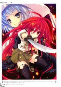 Rating: Safe Score: 21 Tags: hecate miyama-zero seifuku shakugan_no_shana shana sword thighhighs User: crim