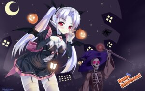 Rating: Safe Score: 36 Tags: cleavage dress halloween natsumiya_yuzu pointy_ears stockings thighhighs wallpaper wings User: Mr_GT