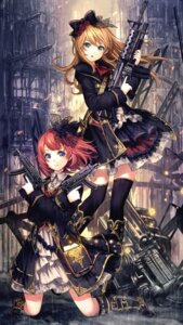 Rating: Safe Score: 133 Tags: catbell gun thighhighs uniform User: Mr_GT