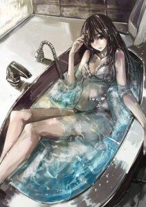Rating: Questionable Score: 39 Tags: bathing bra danann lingerie pantsu wet wet_clothes User: Mogunzo