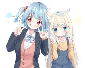 Rating: Safe Score: 17 Tags: animal_ears hamaru_(s5625t) nekomimi overalls seifuku sweater User: Dreista