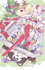 Rating: Questionable Score: 48 Tags: amatsukaze_(kancolle) christmas feet kantai_collection litsvn shimakaze_(kancolle) stockings thighhighs User: Mr_GT