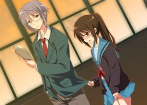 Rating: Safe Score: 16 Tags: genderswap kyon kyonko nagato_yuki seifuku suzumiya_haruhi_no_yuuutsu towaru_ana User: Radioactive