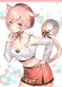 Rating: Questionable Score: 50 Tags: animal_ears cleavage final_fantasy final_fantasy_xiv miqo'te momoko_(momopoco) sashimi_necoya sweater tail User: kiyoe