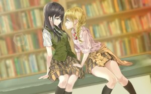 Rating: Safe Score: 33 Tags: aihara_mei aihara_yuzu_(citrus) citrus_(manga) fujisaki_ribbon seifuku sweater yuri User: Spidey