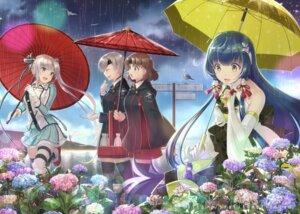 Rating: Safe Score: 36 Tags: akitsushima_(kancolle) chitose_(kancolle) chiyoda_(kancolle) fairy_(kancolle) garter kantai_collection mizuho_(kancolle) sake seifuku tagme thighhighs umbrella User: fairyren