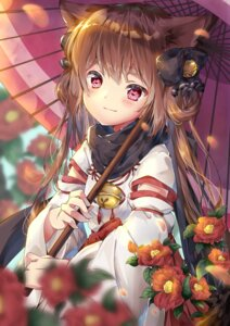 Rating: Safe Score: 41 Tags: amane_tari animal_ears japanese_clothes umbrella User: Mr_GT
