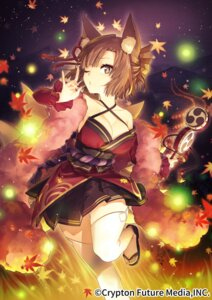 Rating: Safe Score: 16 Tags: animal_ears cleavage hatsune_miku_graphy_collection japanese_clothes kitsune sakanahen stockings tail thighhighs User: Mr_GT