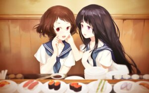 Rating: Safe Score: 24 Tags: chitanda_eru hyouka ibara_mayaka jq seifuku wallpaper User: blooregardo