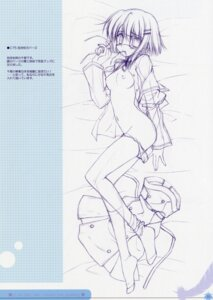 Rating: Questionable Score: 13 Tags: breasts ef_~a_fairytale_of_the_two~ eyepatch monochrome nanao_naru nipples open_shirt pantsu shindou_chihiro sketch User: admin2