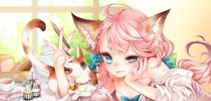 Rating: Safe Score: 42 Tags: animal_ears bra kai_(linking) neko nekomimi open_shirt User: Mr_GT
