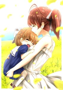 Rating: Safe Score: 14 Tags: clannad dress furukawa_nagisa okazaki_ushio seifuku sorakane summer_dress User: mash