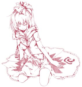 Rating: Safe Score: 20 Tags: kagiyama_hina kapo monochrome touhou User: charunetra