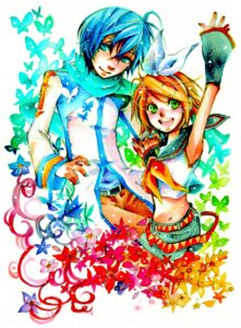 Rating: Safe Score: 4 Tags: kagamine_rin kaito sakiika vocaloid User: Radioactive