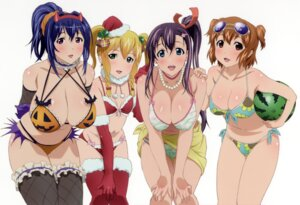 Rating: Questionable Score: 77 Tags: amaya_haruko bikini christmas cleavage erect_nipples halloween himegami_kodama kushiya_inaho maken-ki! megane nijou_aki swimsuits thighhighs User: DDD