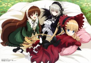Rating: Safe Score: 36 Tags: dress gothic_lolita heterochromia lolita_fashion morimoto_hirofumi rozen_maiden shinku suigintou suiseiseki User: drop