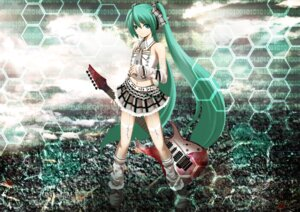 Rating: Safe Score: 39 Tags: guitar hatsune_miku kuromayu stockings thighhighs vocaloid User: 椎名深夏