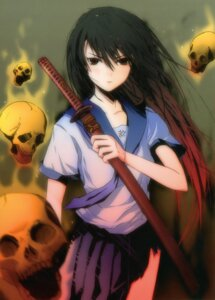 Rating: Safe Score: 26 Tags: fuyuno_haruaki seifuku sword User: midzki