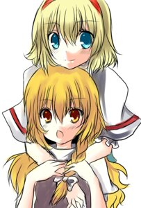 Rating: Safe Score: 3 Tags: alice_margatroid hanaiki kirisame_marisa touhou User: Radioactive