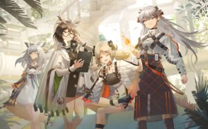 Rating: Safe Score: 19 Tags: animal_ears arknights dress horns ifrit_(arknights) megane o-sd! ptilopsis_(arknights) saria_(arknights) silent_(arknights) User: Dreista
