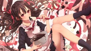 Rating: Safe Score: 16 Tags: peach_punch seifuku skirt_lift valentine wallpaper User: Mr_GT
