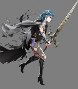 Rating: Questionable Score: 2 Tags: armor byleth fire_emblem fire_emblem_heroes fire_emblem_three_houses heels hirooka_masaki nintendo pantyhose sword torn_clothes User: fly24