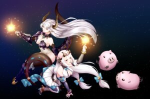 Rating: Safe Score: 13 Tags: armor cleavage epic7 heels horns luna_(epic7) no_bra pointy_ears tagme tail weapon yufine_(epic7) User: darkpussyslayer